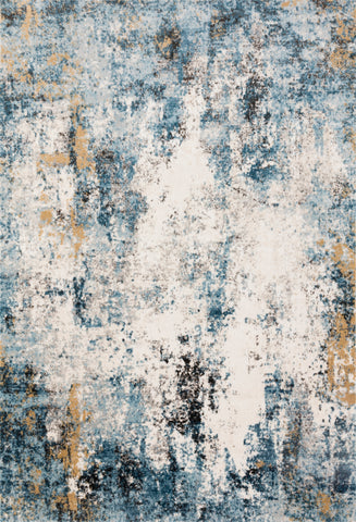 Alchemy Rug in Denim / Ivory by Loloi II