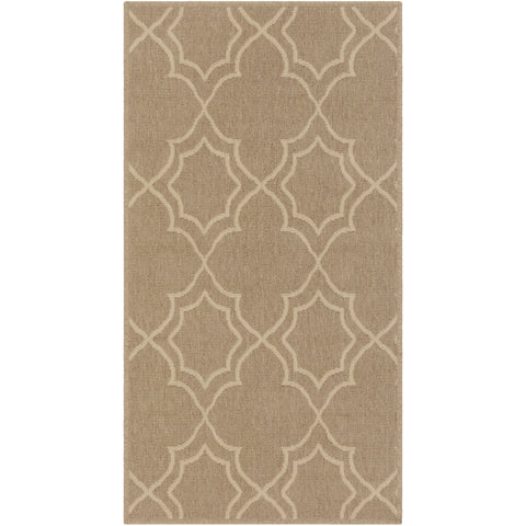Alfresco Outdoor Rug in Camel & Cream