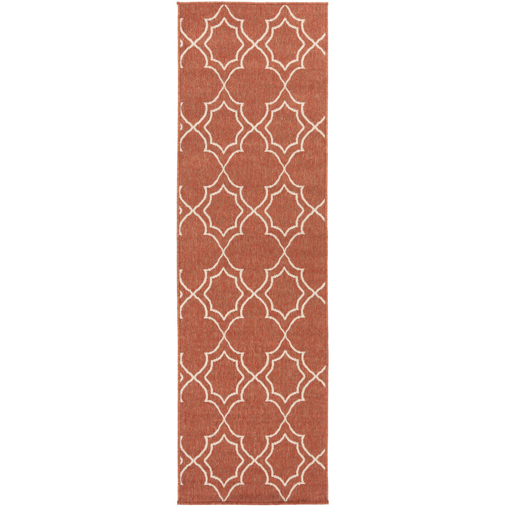 Alfresco ALF-9591 Rug in Rust & Cream in Various Sizes