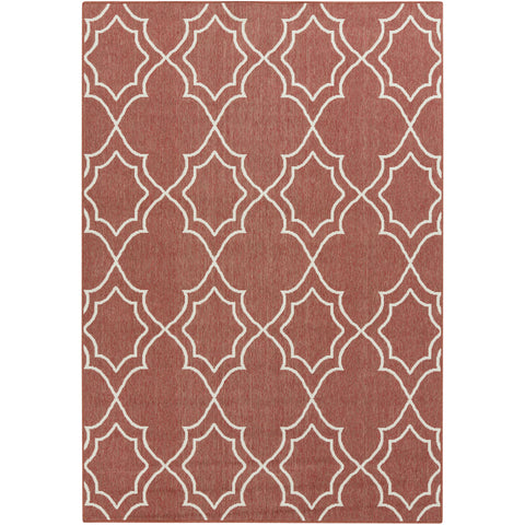 Alfresco Outdoor Rug in Rust & Khaki