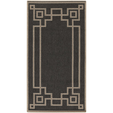 Alfresco Outdoor Rug in Navy & Camel