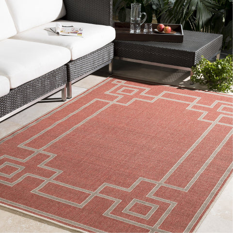 Alfresco ALF-9631 Rug in Rust & Camel by Surya