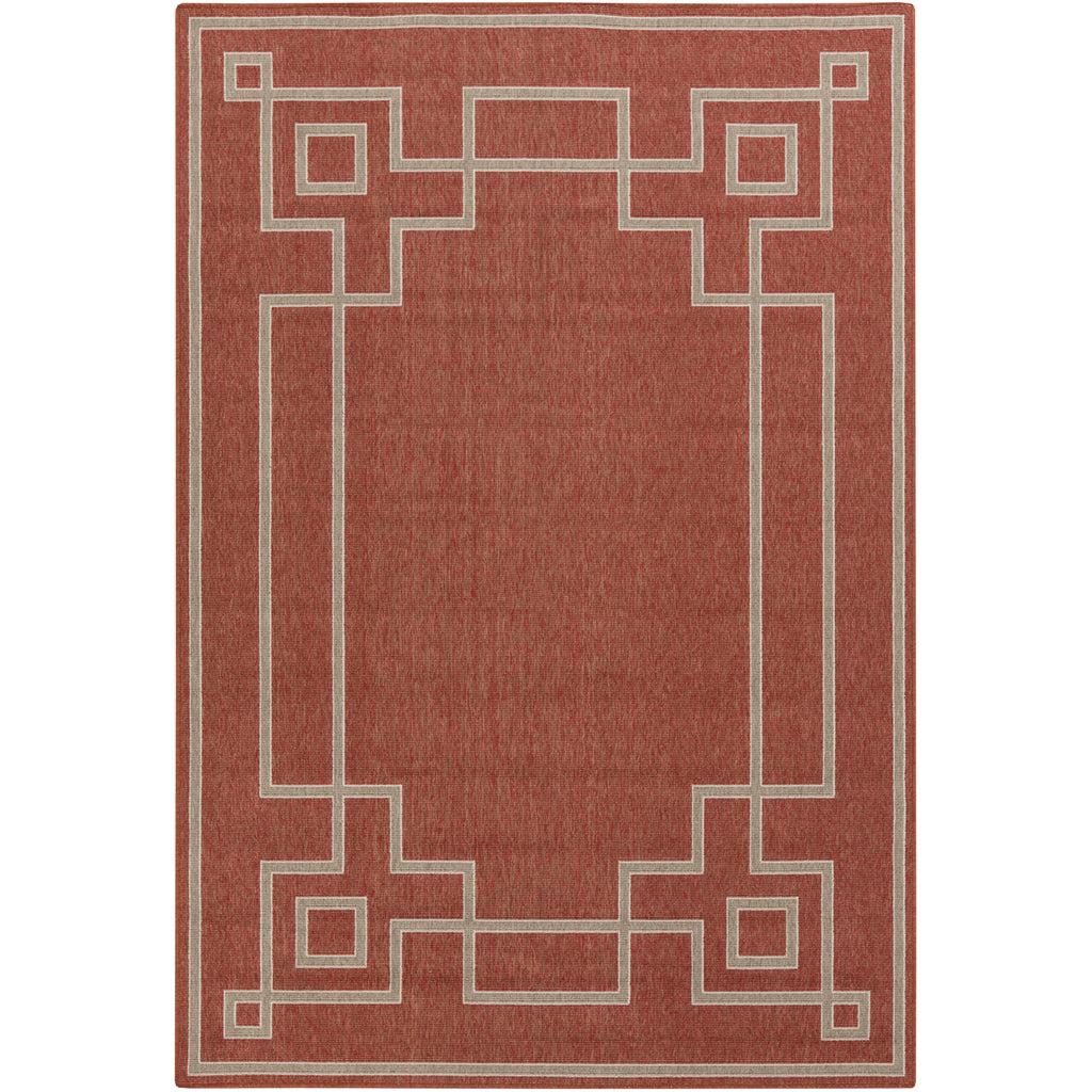 Alfresco Outdoor Rug in Rust & Camel