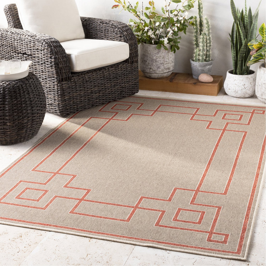 Alfresco ALF-9633 Rug in Rust & Camel by Surya
