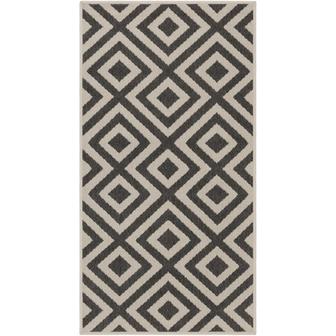 Alfresco Beige & Black Rug