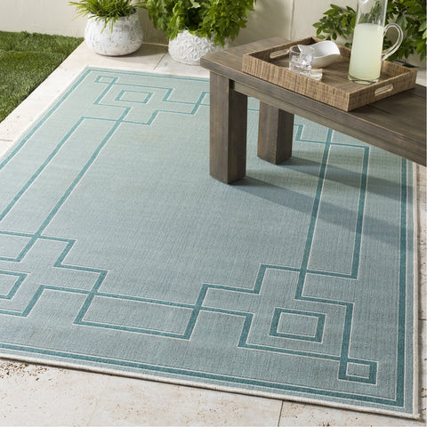 Alfresco ALF-9655 Rug in Aqua & Teal by Surya