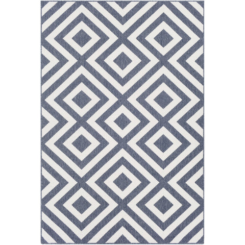 Alfresco ALF-9657 Rug in Charcoal & White by Surya