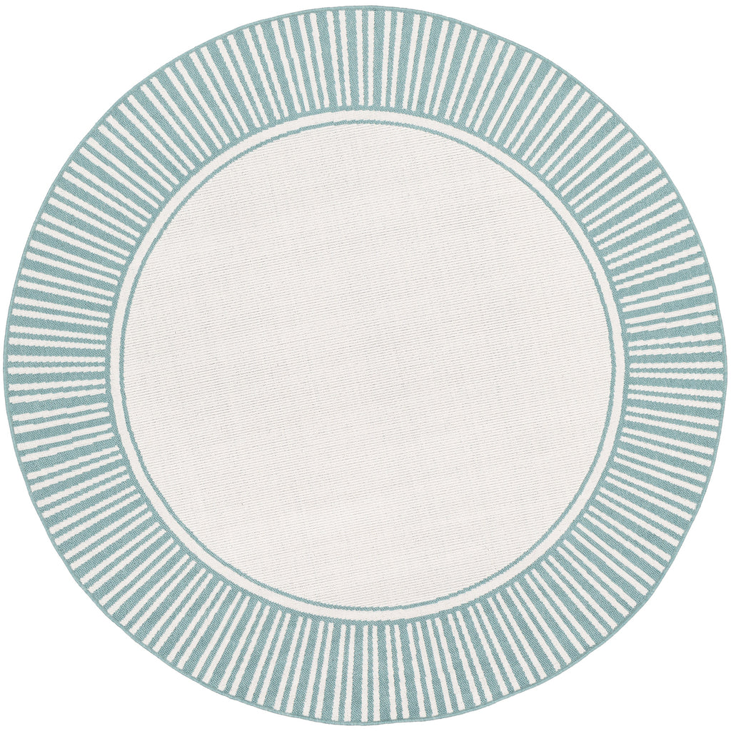 Alfresco Rug in Teal & White