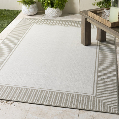 Alfresco ALF-9681 Rug in Taupe & White by Surya