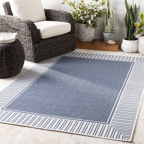 Alfresco ALF-9682 Rug in Charcoal & White by Surya