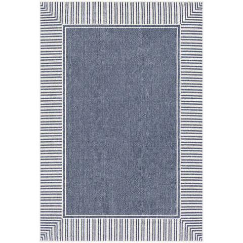 Alfresco Rug in Charcoal & White