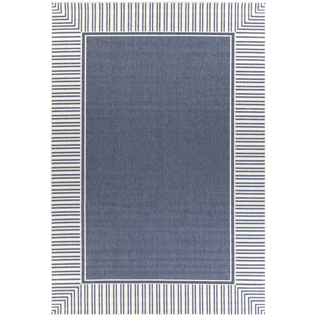 Alfresco ALF-9682 Rug in Charcoal & White in Various Sizes