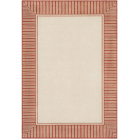 Alfresco ALF-9683 Rug in Burnt Orange & Cream by Surya
