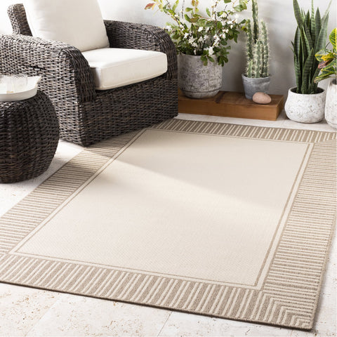 Alfresco ALF-9685 Rug in Camel & Cream by Surya
