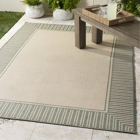 Alfresco ALF-9686 Rug in Sea Foam & Cream by Surya