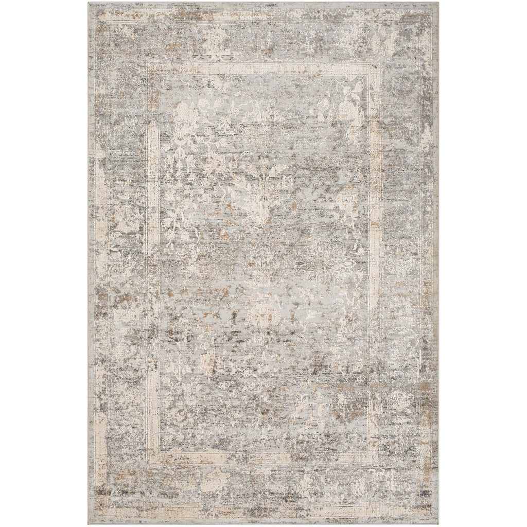 Alpine ALP-2307 Rug in Gray & Ivory in Various Sizes