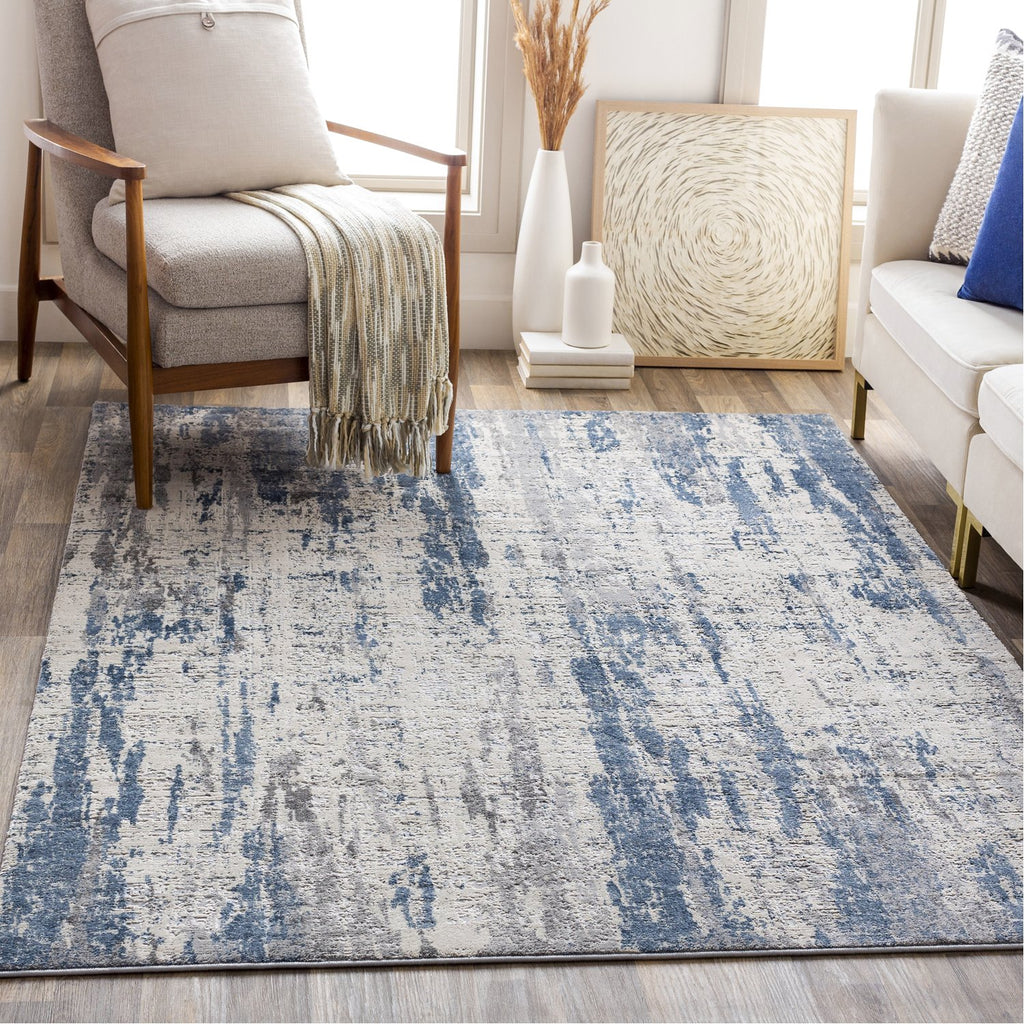 Alpine ALP-2309 Rug in Denim & Charcoal by Surya