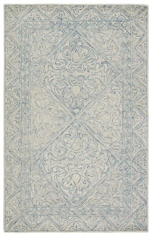 Carmen Handmade Trellis Blue/ Light Gray Rug by Jaipur Living
