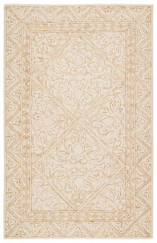 Carmen Handmade Trellis Yellow/ Cream Rug by Jaipur Living