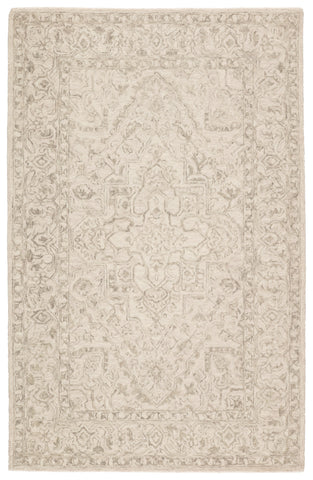 Lena Handmade Medallion Light Gray/ Cream Rug by Jaipur Living