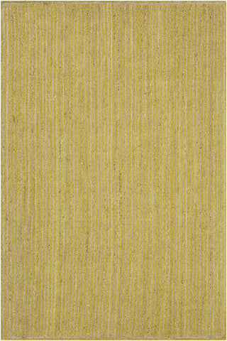 Alyssa Collection Hand-Woven Area Rug in Lime Green & Natural