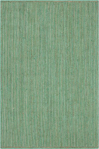 Alyssa Collection Hand-Woven Area Rug in Dark Green & Natural design by Chandra rugs
