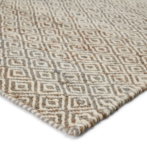 Naturals Ambary Rug in Lily White & Monument design by Jaipur