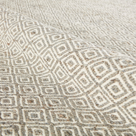 Wales Natural Geometric Tan & White Area Rug