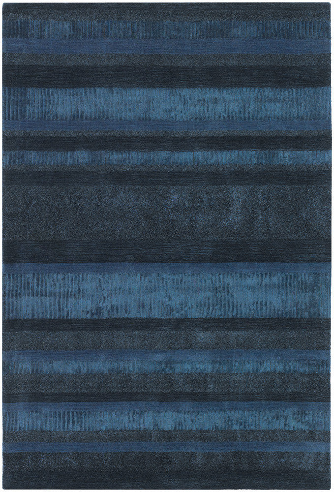 Amigo Collection Hand-Woven Area Rug in Blue & Charcoal