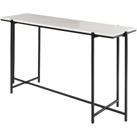 Anaya ANA-003 Console Table with White Top & Black Base by Surya