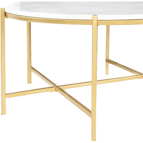 Anaya ANA-005 Center Table with White Top & Gold Base by Surya