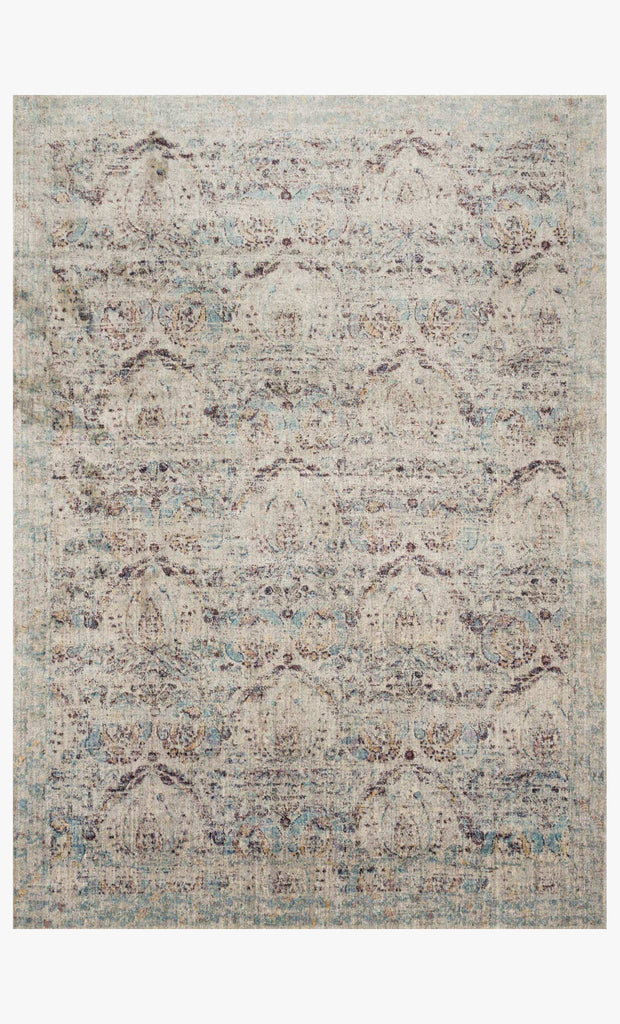 Anastasia Rug in Silver & Plum design by Loloi