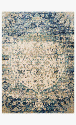 Anastasia Rug in Blue & Ivory design by Loloi