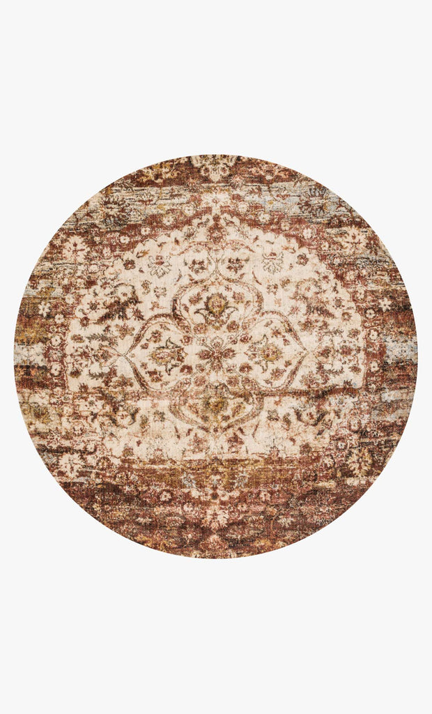 Anastasia Rug in Rust & Ivory design by Loloi