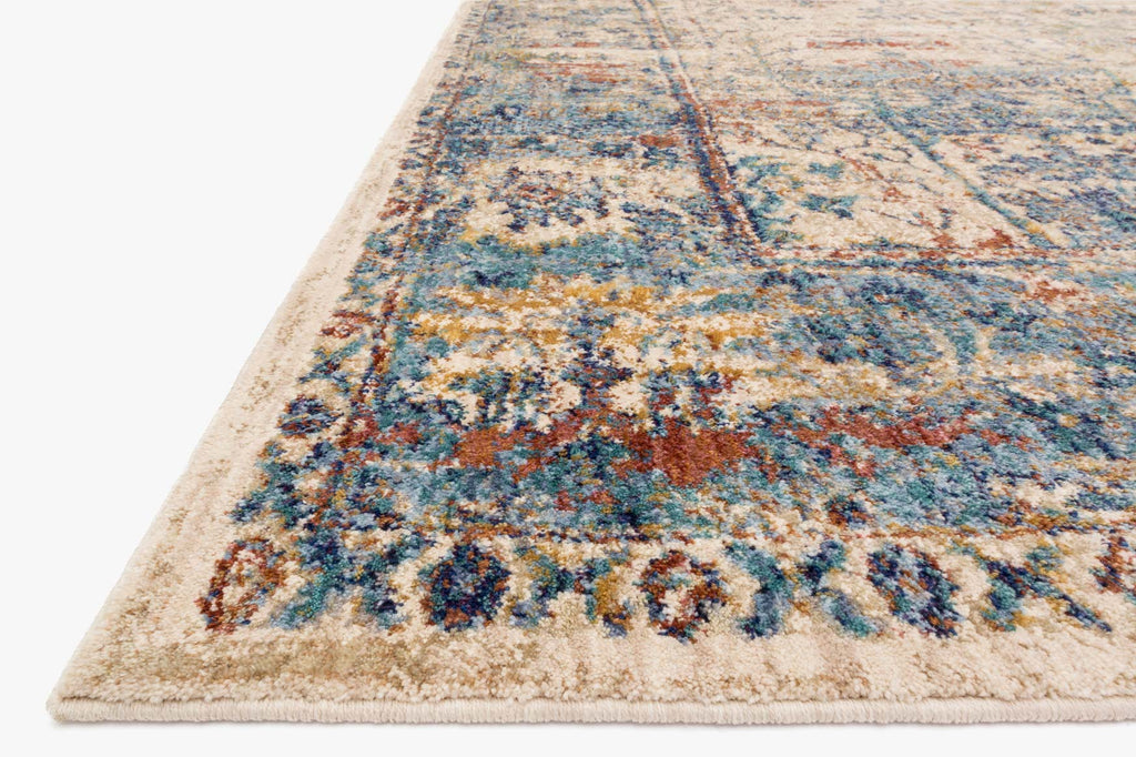 Anastasia Rug in Sand & Light Blue design by Loloi