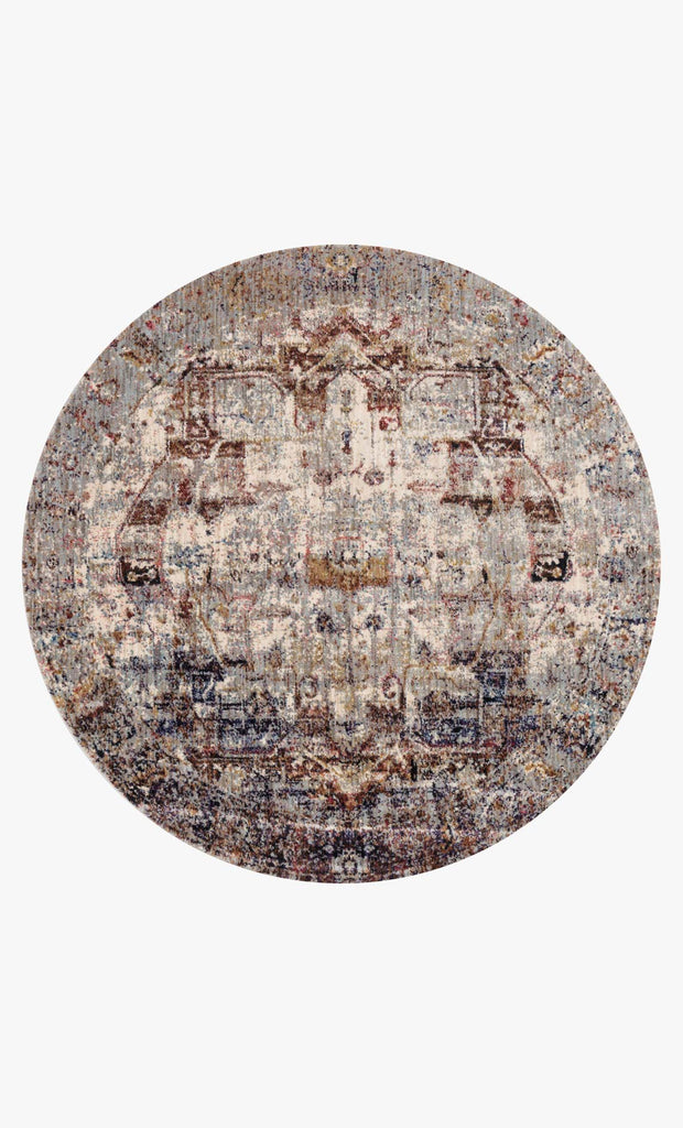 Anastasia Rug in Slate & Multi design by Loloi