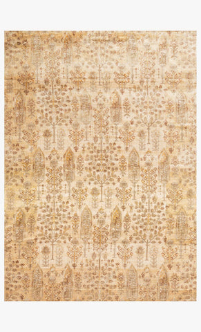 Anastasia Rug in Ivory & Gold design by Loloi