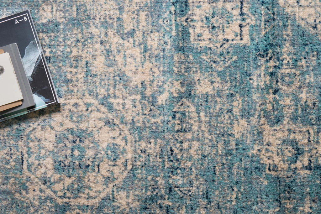 Anastasia Rug in Light Blue & Ivory design by Loloi