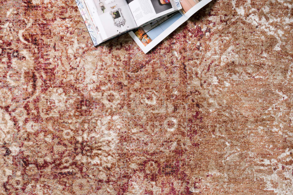Anastasia Rug in Copper & Ivory design by Loloi