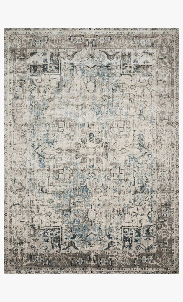 Anastasia Rug in Blue & Slate design by Loloi