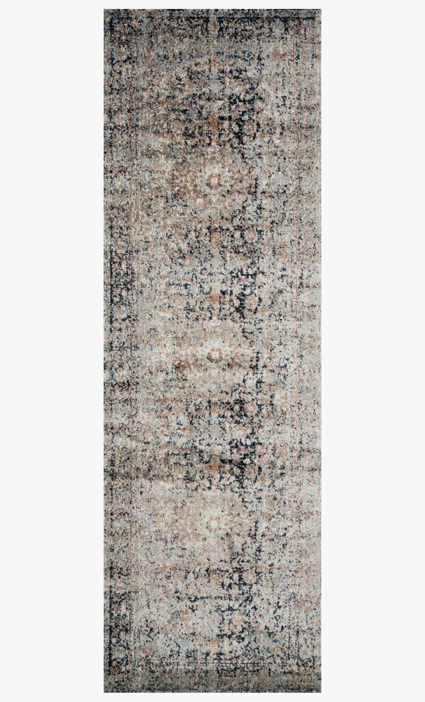 Anastasia Rug in Charcoal & Sunset design by Loloi