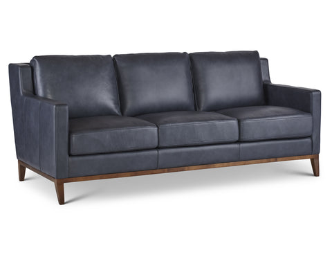 Anders Leather Sofa in Denim