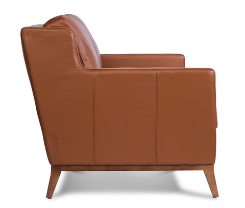 Anders Leather Sofa in Brandy
