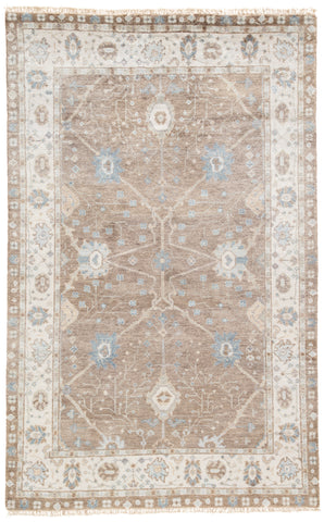 Princeton Floral Rug in Feather Gray & Goat design by Jaipur