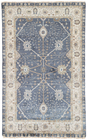 Princeton Floral Rug in Flint Stone & Seagrass design by Jaipur