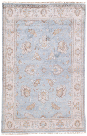 Geneva Floral Rug in Pumice Stone & Crockery design by Jaipur