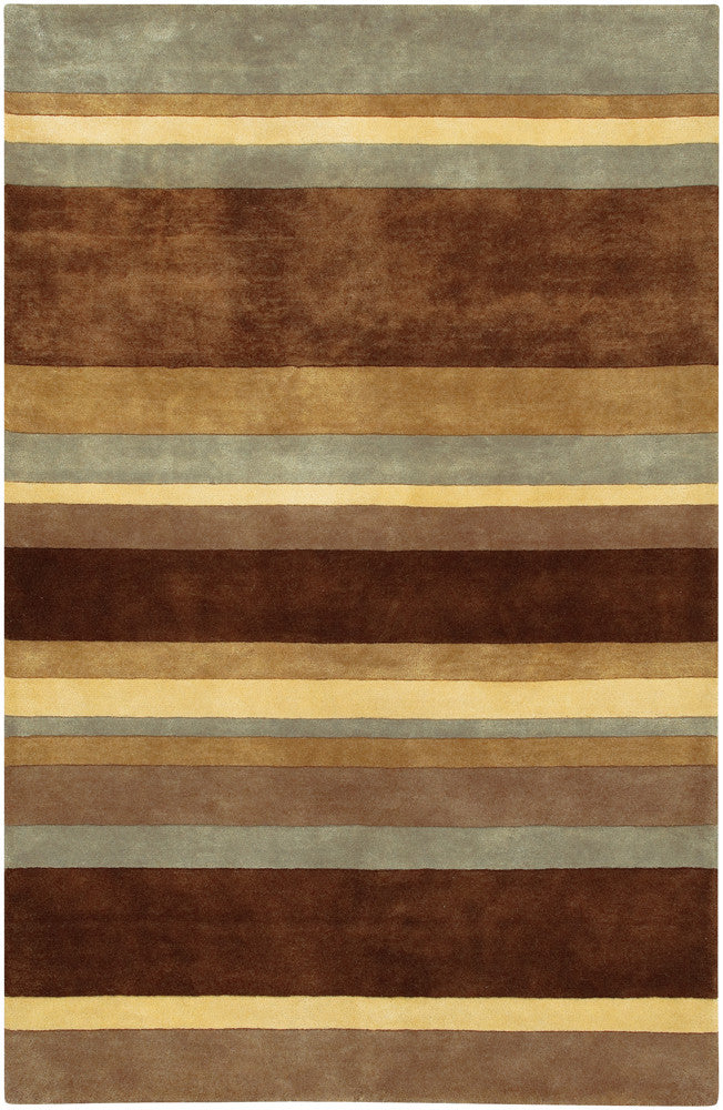 Antara Collection Hand-Tufted Area Rug in Brown, Yellow, & Grey