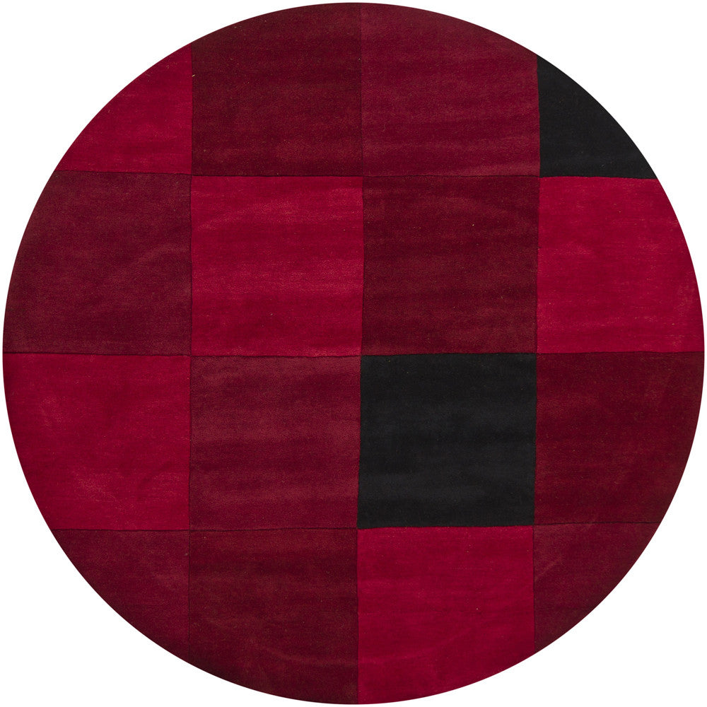 Antara Collection Hand-Tufted Area Rug in Red & Black design by Chandra rugs