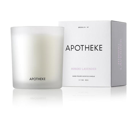 Hinoki Lavender Signature Candle design by Apotheke