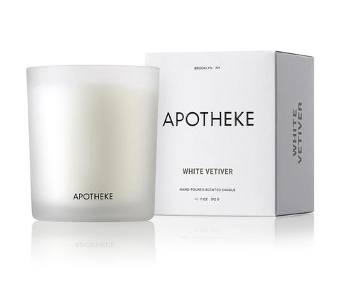 White Vetiver Signature Candle design by Apotheke